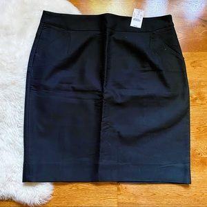 J. Crew Black The Pencil Skirt NWT